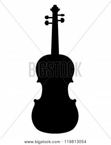 Vector silhouette of a violin