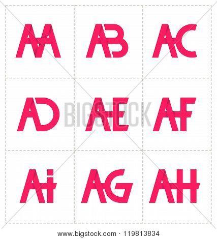 Modern Minimalis Initial Logo