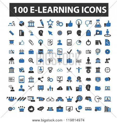 e-learning icons, e-learning logo, e-learning vector, e-learning flat illustration concept, e-learning infographics, e-learning symbols,