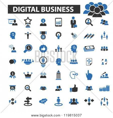 digital business icons, digital business logo, digital business vector, digital business flat illustration concept, digital business infographics, digital business symbols,
