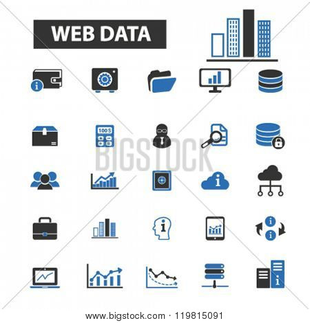 web data icons, web data logo, web data vector, web data flat illustration concept, web data infographics, web data symbols,