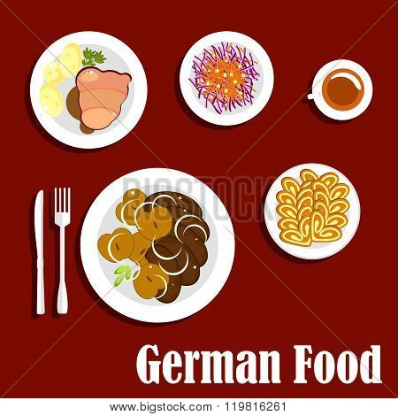 Popular national german cuisine dishes