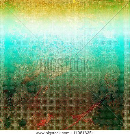 Grunge retro vintage textured background. With different color patterns: yellow (beige); brown; green; blue; red (orange)