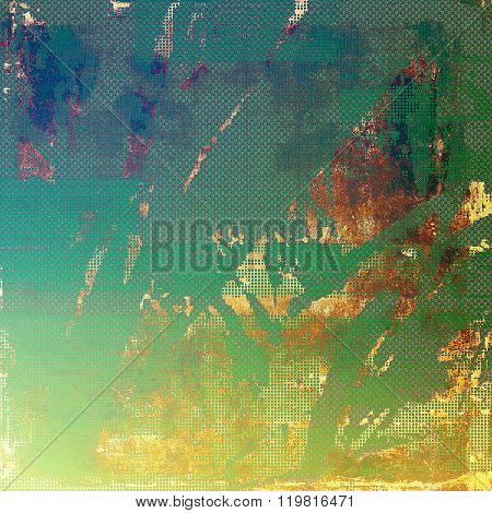 Old school textured background. With different color patterns: yellow (beige); brown; green; blue; red (orange)