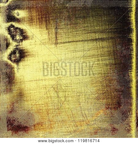 Old abstract grunge background for creative designed textures. With different color patterns: yellow (beige); brown; gray; black
