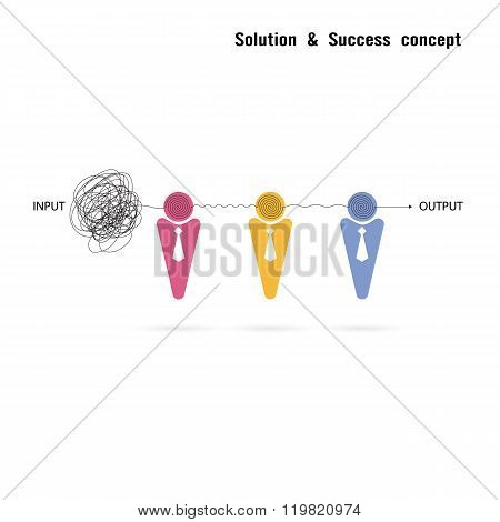 Businessmans With Group Problem Solving And Teamwork Idea Concept.solution And Teamwork Idea.capabil