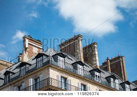 Parisian Apartments From Low Angle