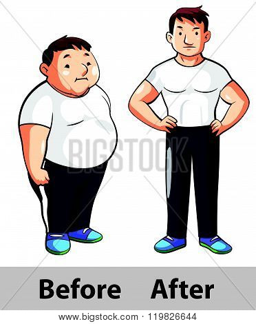 man fitness before after