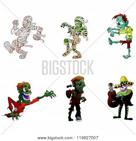 Zombie and Mummy Illustration Collection