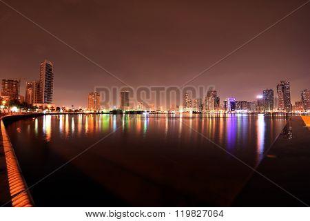 Sharjah Buhaira Corniche with Noor Island,Sharjah, UAE