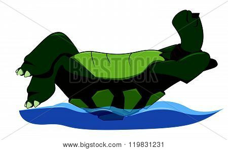 Enjoy Turtle cartoon illustration