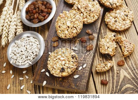 Cookies With Raisins And Sunflower Seeds
