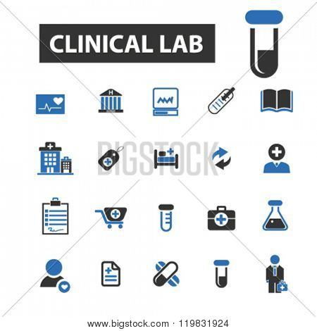 clinical lab icons, clinical lab logo, clinical lab vector, clinical lab flat illustration concept, clinical lab infographics, clinical lab symbols,