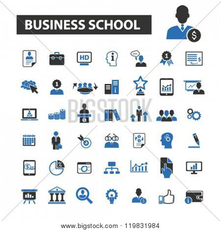 business school icons, business school logo, business school vector, business school flat illustration concept, business school infographics, business school symbols,