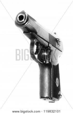 Russian armed army gun on a white background