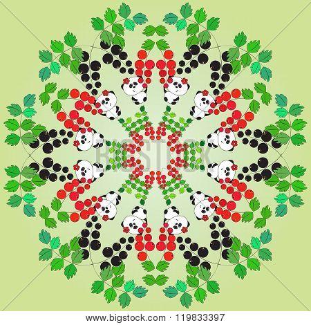 Vector illustration, funny panda