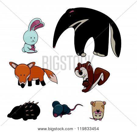 Cute animal : Rabbit,Tappir,Fox,Squrrel,Hedgehog,Rat,Hamster