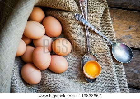 Farm Raised Brown Chicken Eggs