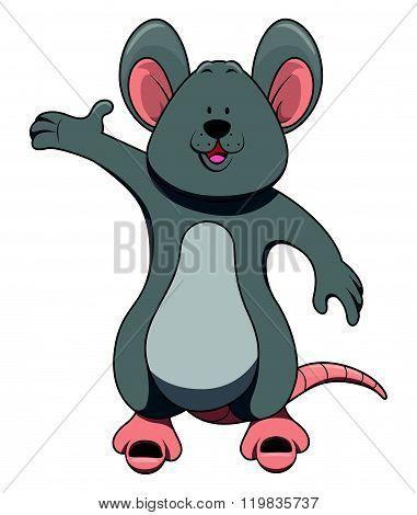 Mouse cartoon illustration isolated white