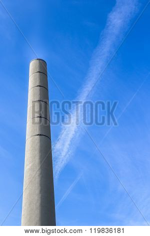Chimney Against Blue Sky