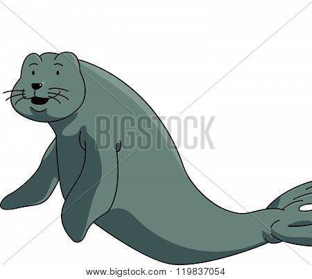 Dugong cartoon illustration