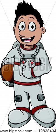 Astronaut Boy cartoon illustration design