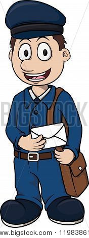 Postman Boy cartoon illustration design