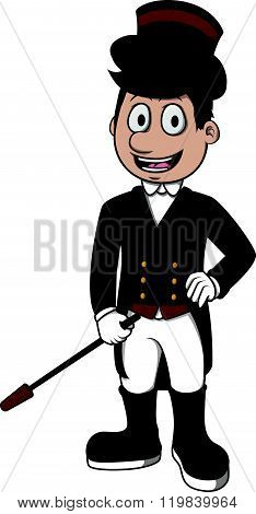 Equestrian vector cartoon illustration design