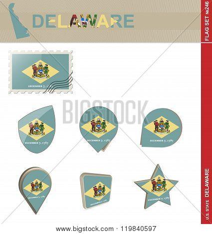 Delaware Flag Set, Flag Set #246