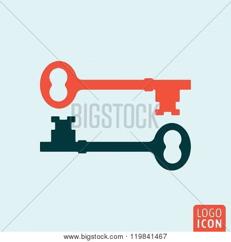 Key icon isolated