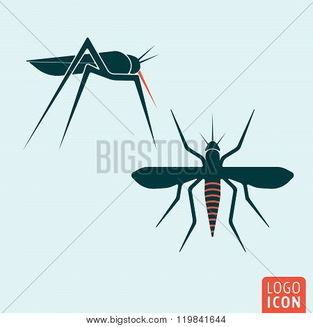 Mosquito icon isolated
