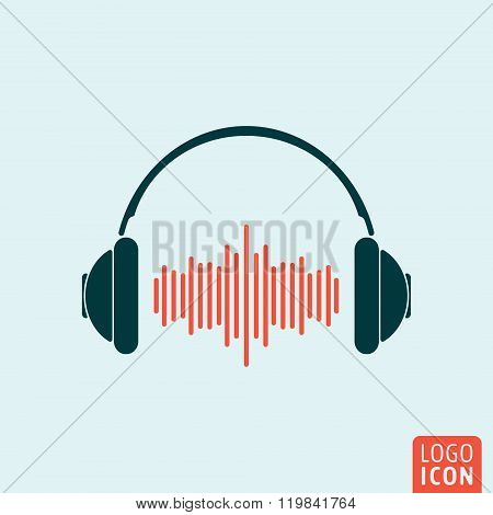 Headphone icon isolated