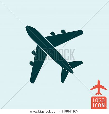 Plane icon isolated