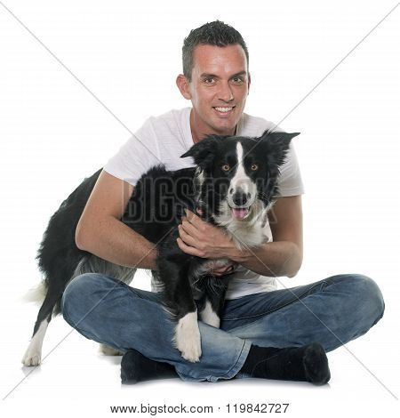 Man And Border Collie
