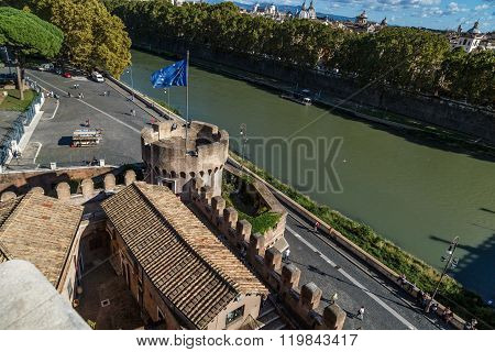 Detailed Castel Sant'angelo View