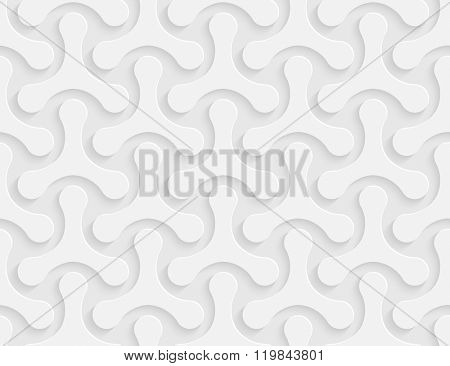 Vector seamless geometric pattern with triangular molecular shapes.