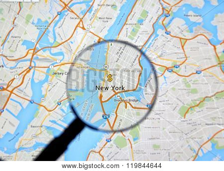 New York On Map.