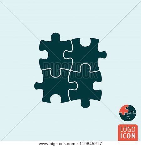 Puzzle Icon Isolated