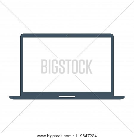Laptop Icon On The White Background. Stock Vector Illustration Eps10