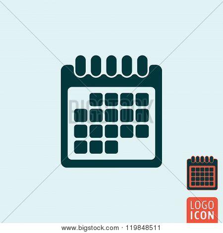 Calendar Icon Isolated