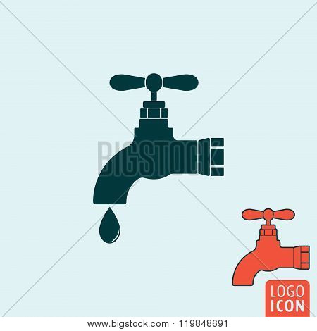 Water Tap Icon Isolated