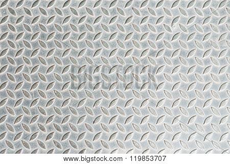 Dirty Metal Diamond Grip Pattern Texture .top View Floor