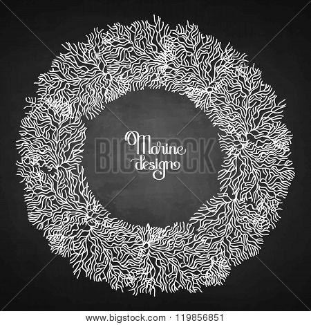Coral  graphic wreath