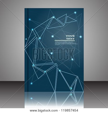 Abstract Composition Stylized Galaxy Icon  Blue Space Background Cosmic Brochure Title Sheet Star Li