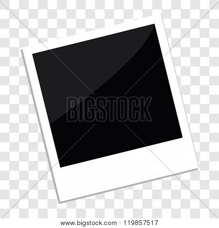 Instant Photo In Flat Design Style Template Transparent Background Isolated