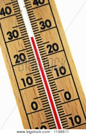 Abstract Wood Thermometer