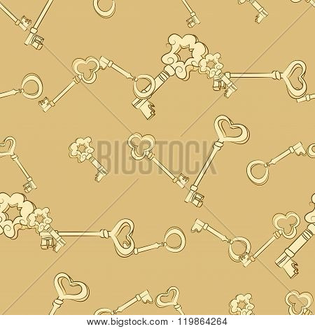 Seamless keys pattern