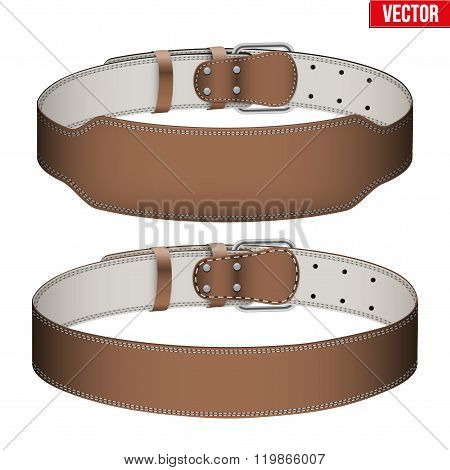 Mockup Weightlifting GYM Leather Belt
