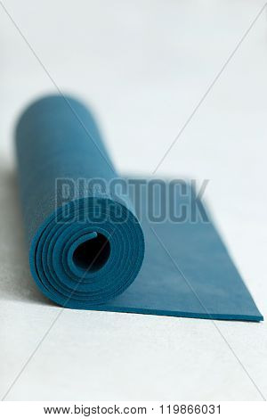 Rolled Up Exercise Mat