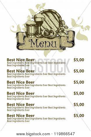 restaurant beer menu